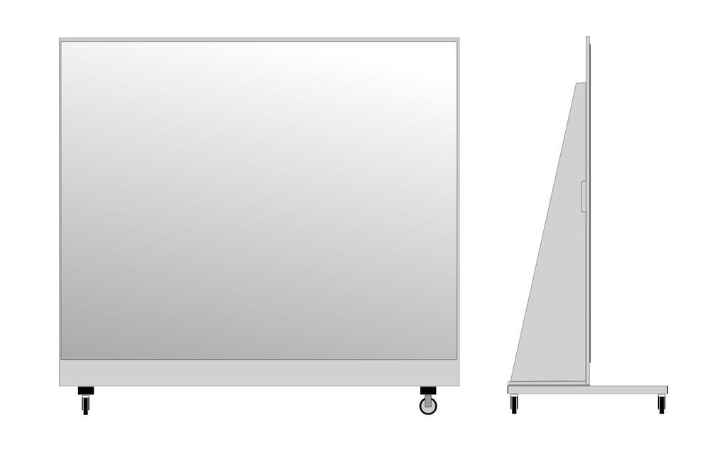 miroir de sport roulettes 190 x 200cm. Black Bedroom Furniture Sets. Home Design Ideas